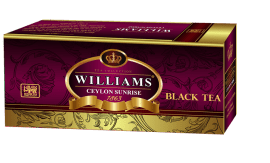 "WILLIAMS ""CEYLON SUNRISE"" черный цейл. чай HIGH GROWN 25 пакетиков по 1,5гр.*25пакетиков"